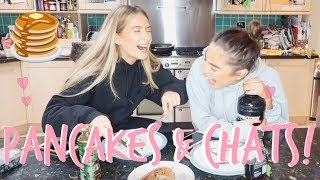 woooo pancakes gosh we love them!! and we love a good chat!! just a...
