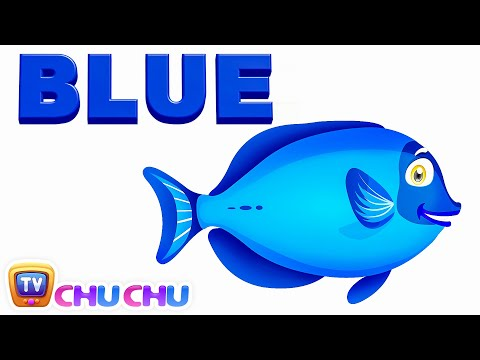 Thumbnail: Color Songs - The BLUE Song | Learn Colours | Preschool Colors Nursery Rhymes | ChuChu TV