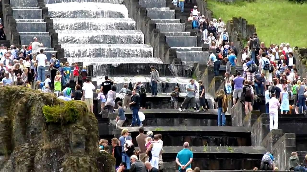 Wasserkaskaden Kassel herkules oktogon kaskade im bergpark wilhelmshöhe kassel unesco