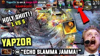 Do You Believe 1v5 Rampage Is Possible ? Then See Yourself - Epic Rampage By Yapzor's Earthshaker