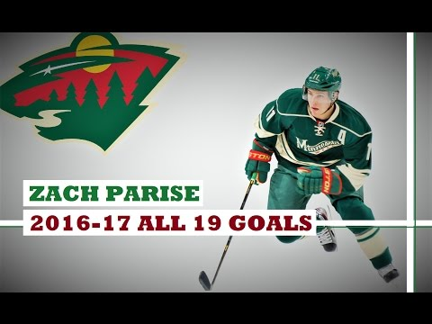 Zach Parise (#11) ● ALL 19 Goals 2016-17 Season (HD)