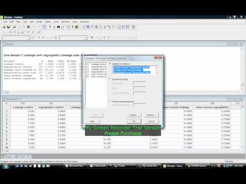 Tutorial on how to Generate a Confidence Interval on Minitab