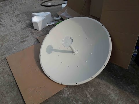 UBNT 35.1 KM PTP Radio Link By Rocket 5AC Lite with 30dBi Dish