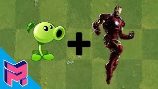 Plants vs Zombies Fusion Hack Animation ( Peashooter + Iron Man )