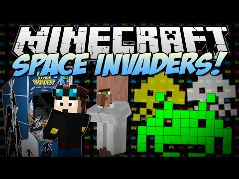 Minecraft | SPACE INVADERS! (Crush the 8-Bit Aliens and Save the World!) | [1.7.2] poster