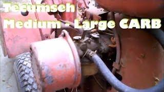 Tecumseh Carb Rebuild Medium-large Engines Part 1