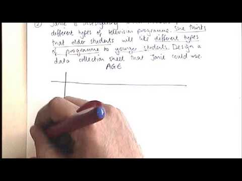 How to - design a data collection sheet - YouTube