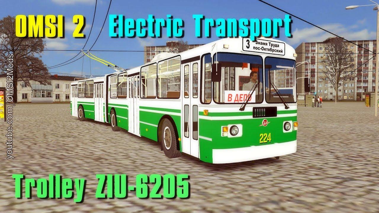 OMSI 2 - Trolley ZIU-6205 (Electric Transport) Board number 224 by OMSI 2  Bus Simulator Mods