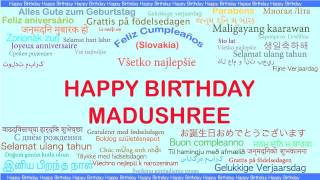 Madushree   Languages Idiomas - Happy Birthday
