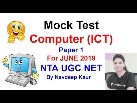 Mock Test 80 NTA NET Computer (ICT) Paper 1 For JUNE 2019