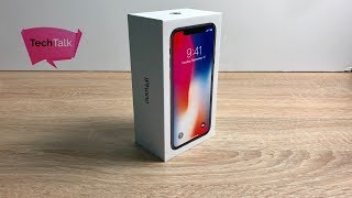 iPhone X Space Grey Unboxing and Setup