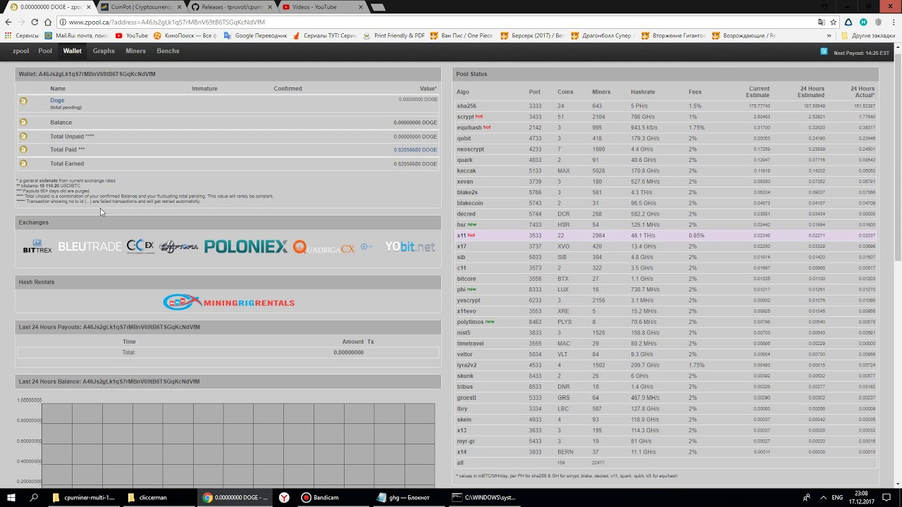 mine pool dogecoin cpu майнинг доги на процессоре