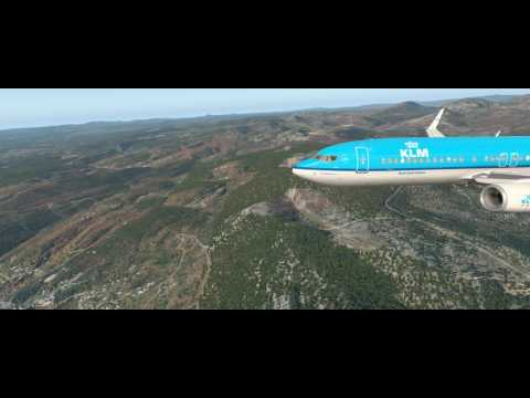X-plane 11 + Ortho4xp + w2xp europe, Descent on Nice LFMN - YouTube