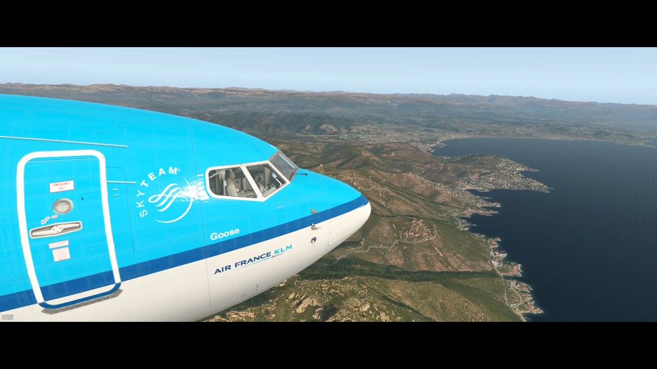 X-Plane 11 + Ortho4xp + W2xp Europe, Descent On Nice Lfmn  Gogol1st 28:44 HD