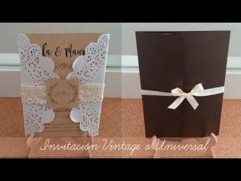 INVITACIÓN Vintage o Universal | Ideas para boda, tutorial