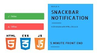 Build a Snackbar Notification | HTML, CSS, & JS | Mini Projects | Dylan Israel