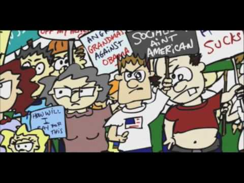 The IFC Media Project presents... FEAR Preview: Max Blumenthal and the Tea Party (Odd Todd cartoon)