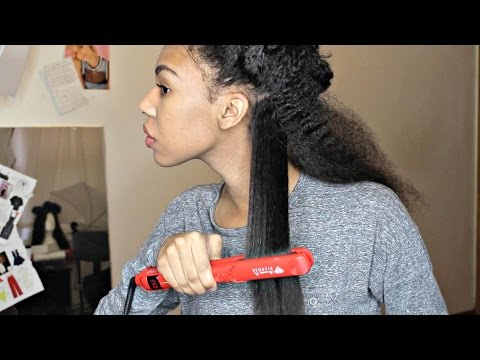 Flat ironing Natural Hair fail