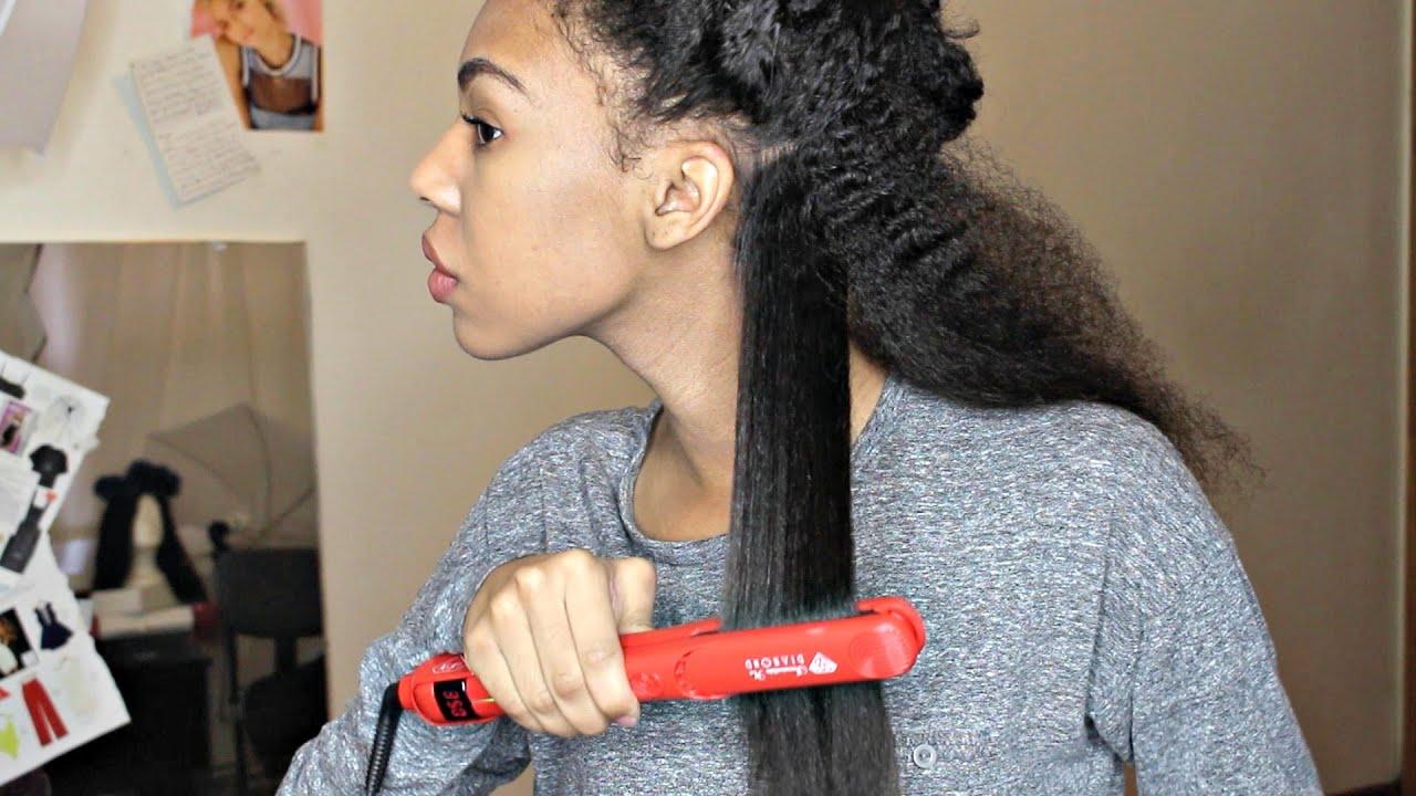 flat ironing natural hair fail