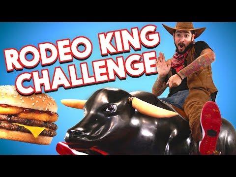 Burger King Rodeo King Challenge ft. Mechanical Bull