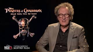 Geoffrey Rush on Working with Johnny Depp on PIRATES OF THE CARIBBEAN: DEAD MEN TELL NO TALES