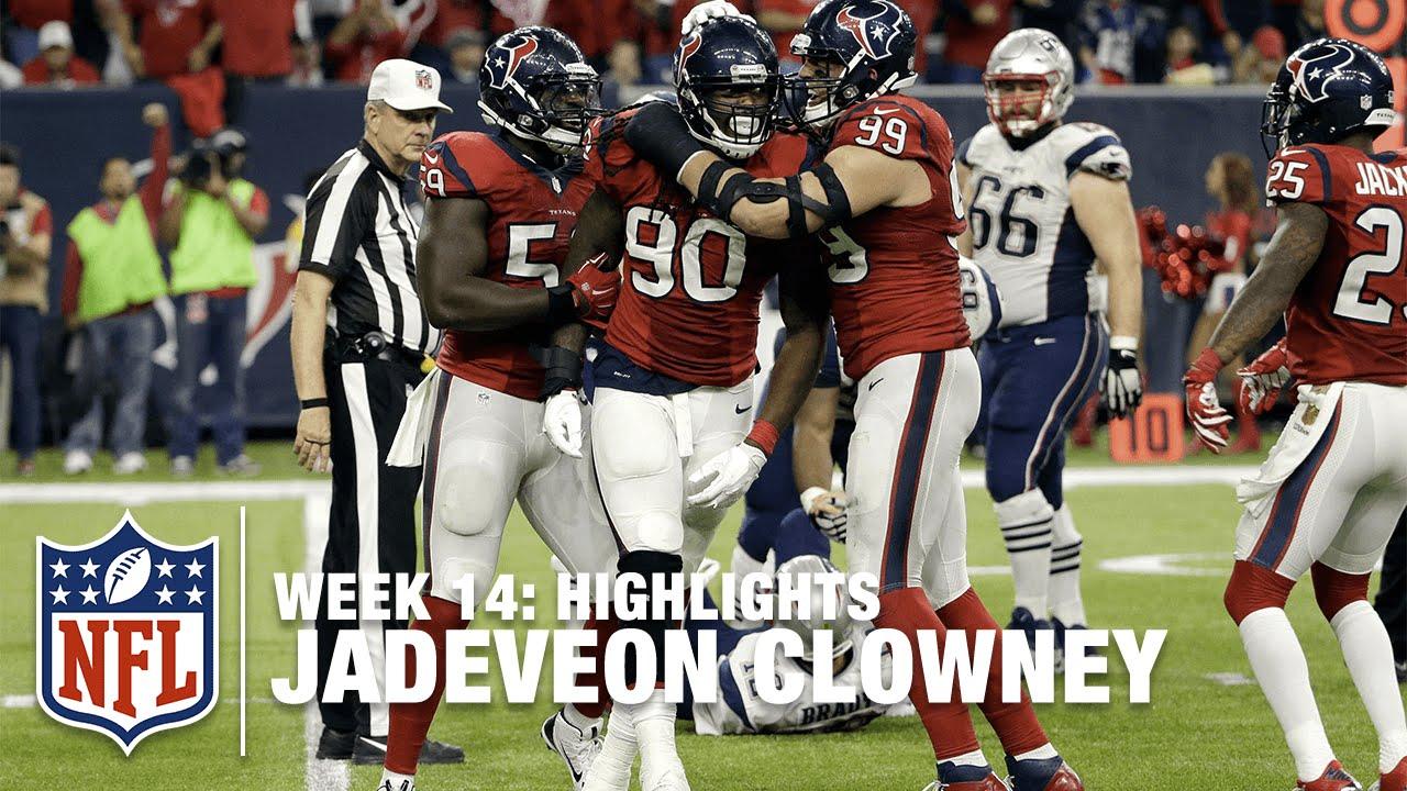 Jadeveon Clowney Highlights Week 14 Patriots vs Texans