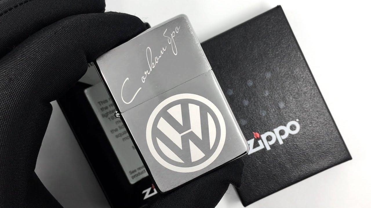 Zippo 230 25 vw logo custom