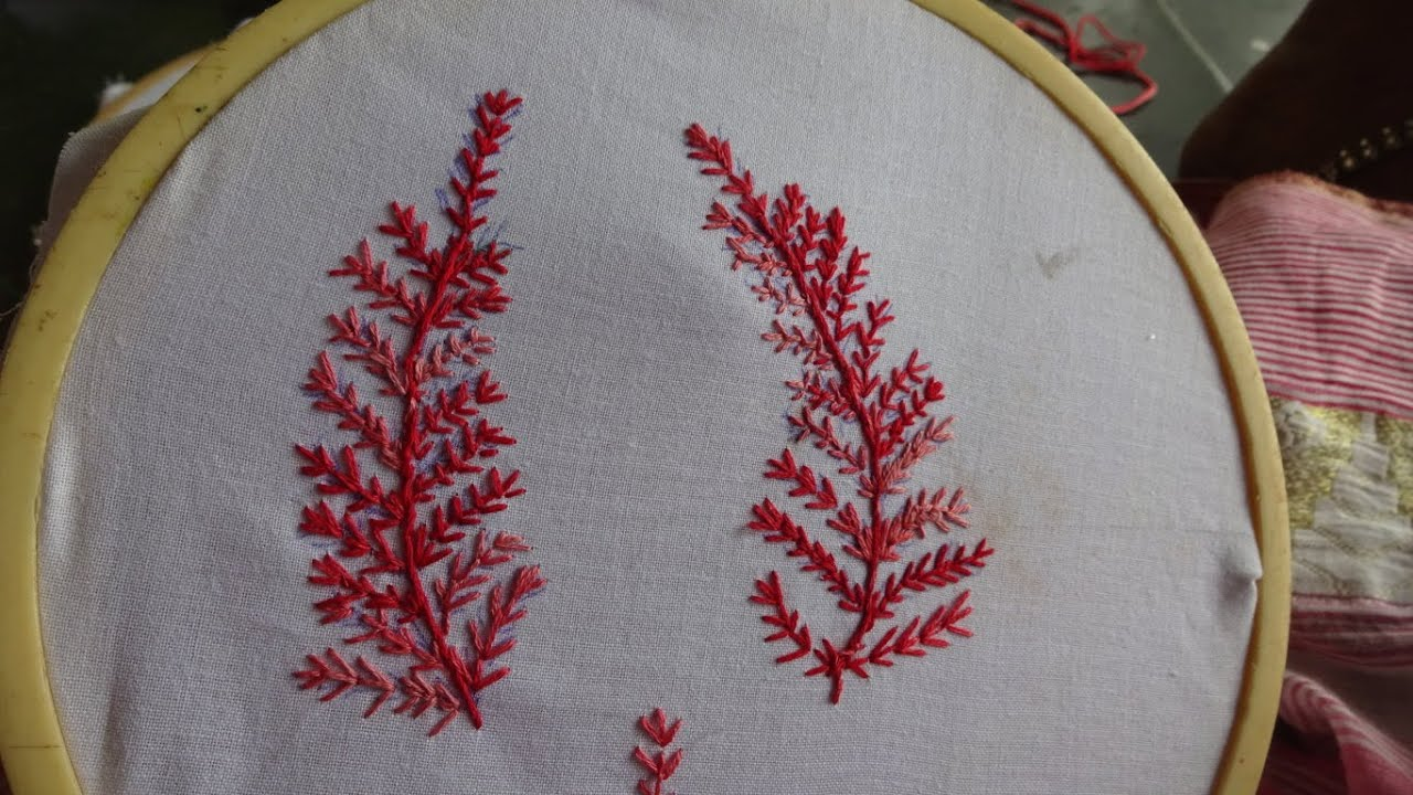 Hand Embroidery Easy Stitch By Amma Arts Youtube