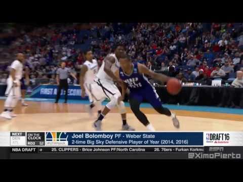 2016 NBA Draft   #52 Pick  Joel Bolomboy   Utah Jazz