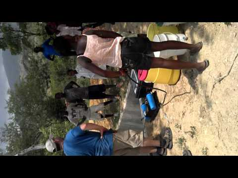 Water is life! Portable Solar Water filtration system in action