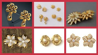 Fantastic Daily Wear & Party Wear Minimalist gold Tops/ Different Gold Earrings To Look Presentable