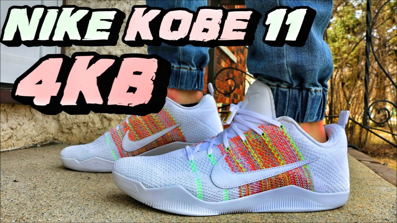 3810571ab2f ... discount nike kobe 11 elite low 4kb white horse review on foot youtube  4ca76 eebe4