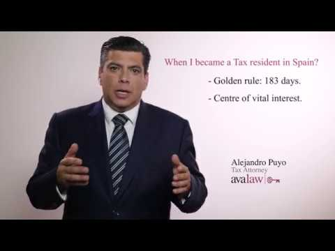 When are you a tax resident in Spain?