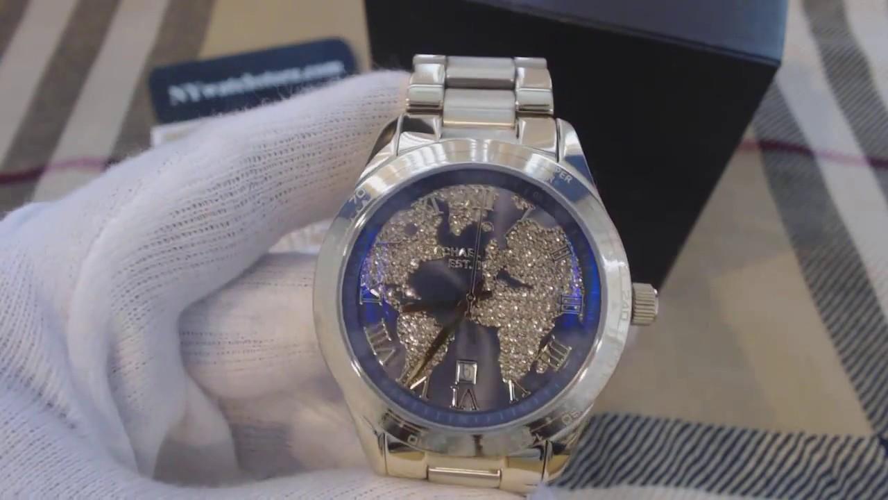 Women s Gold Tone Michael Kors Layton Glitz Watch MK6243 - YouTube fff59afdc1