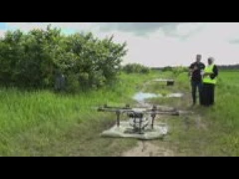 Rice paddy farmers bring in drones to tackle malaria