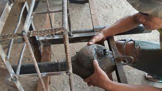 Cara Membuat Rangka Alat Gali Sumur Bor #Master Las Angga