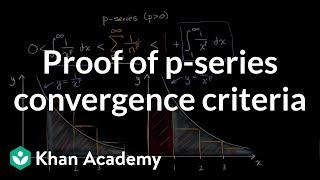 Proving p series convergence criteria