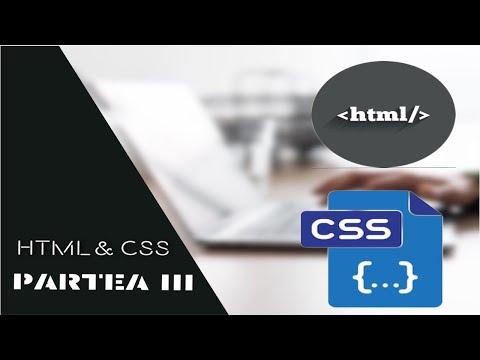 Tutorial Programare Web HTML&CSS Partea 3