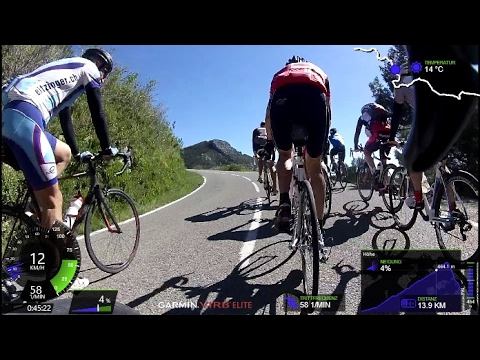 Fat Burning 60 Minute Indoor Cycling Group Uphill Training Spain Full HD