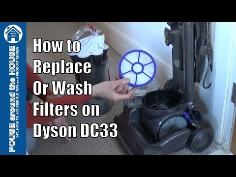 How to change filters on Dyson DC33. Replace, wash & clean filters on Dyson vacuum.