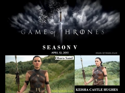 Game Of Thrones 'Keisha Castle Hughes'  The Sand Snakes