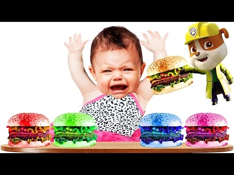 Thumbnail: Bad Baby Burger Paw Patrol Finger Family Colors Learn