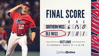 HIGHLIGHTS | Ole Miss defeats Southern Miss 7 - 6 (03/27/18) #WAOM #FinsUpRebels