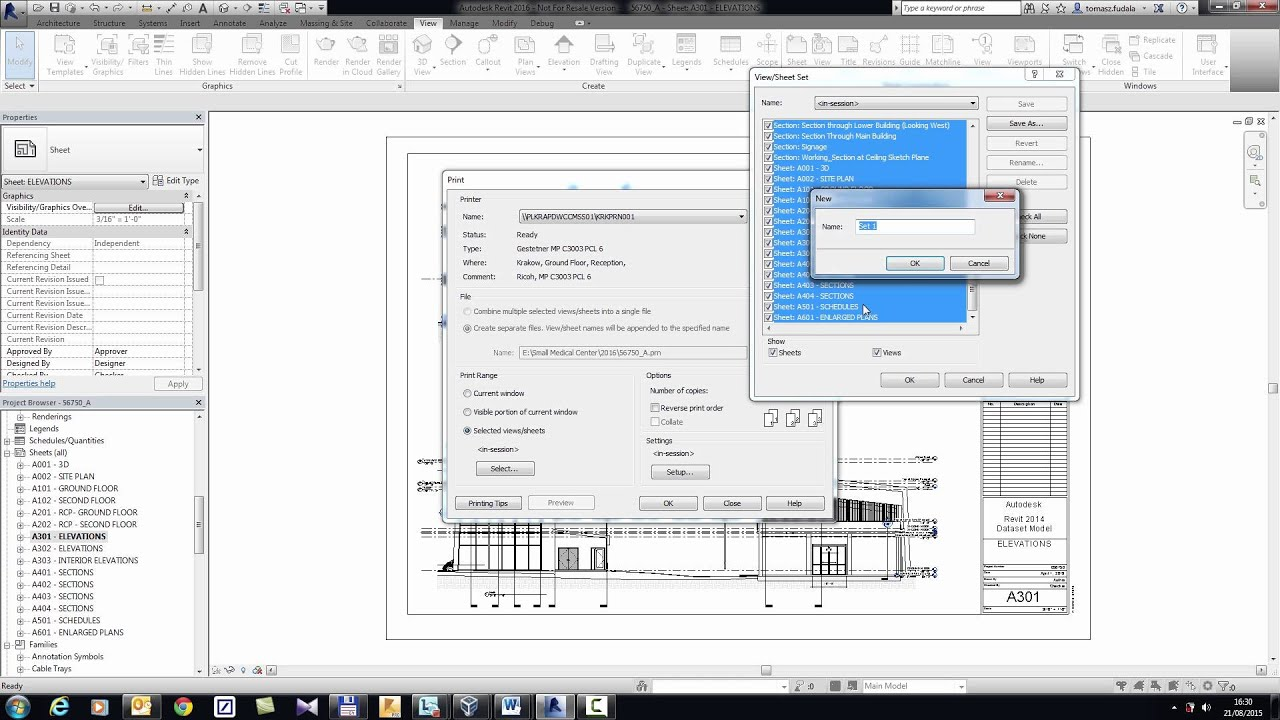 how to add new sheet revit