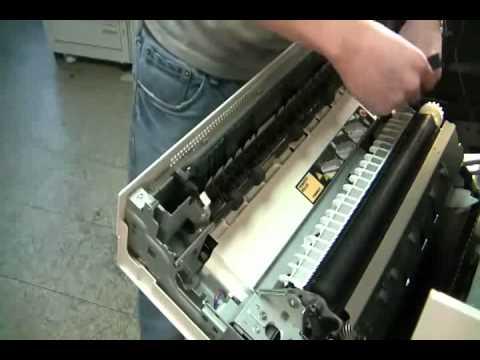 Xerox Phaser 7700 7750 7760 Jam At Fuser Error Youtube