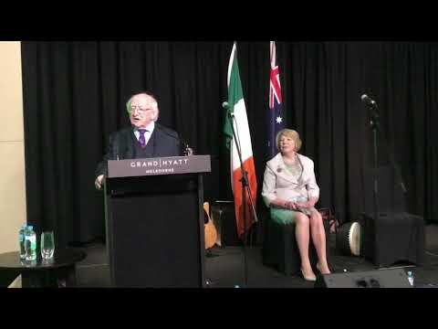 President and Sabina meet the Irish community in Melbourne