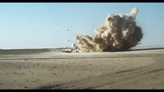 Mine Roller Saves Vehicle Crew From IED