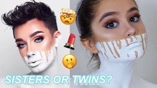 I TRIED FOLLOWING A JAMES CHARLES MAKEUP TUTORIAL (dollar store edition)