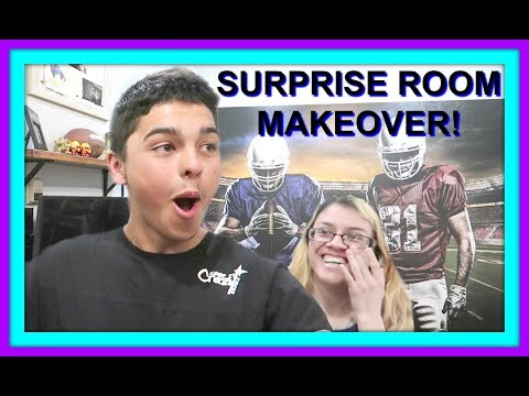 SURPRISE ROOM MAKEOVER FOR TEENS!   BEDROOM TOUR
