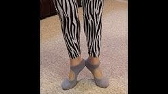 LIBRUONE Yoga Barre Socks Non Slip Skid for Barre Pilates Ballet 3 Pairs Cotton Socks One Size 5-10